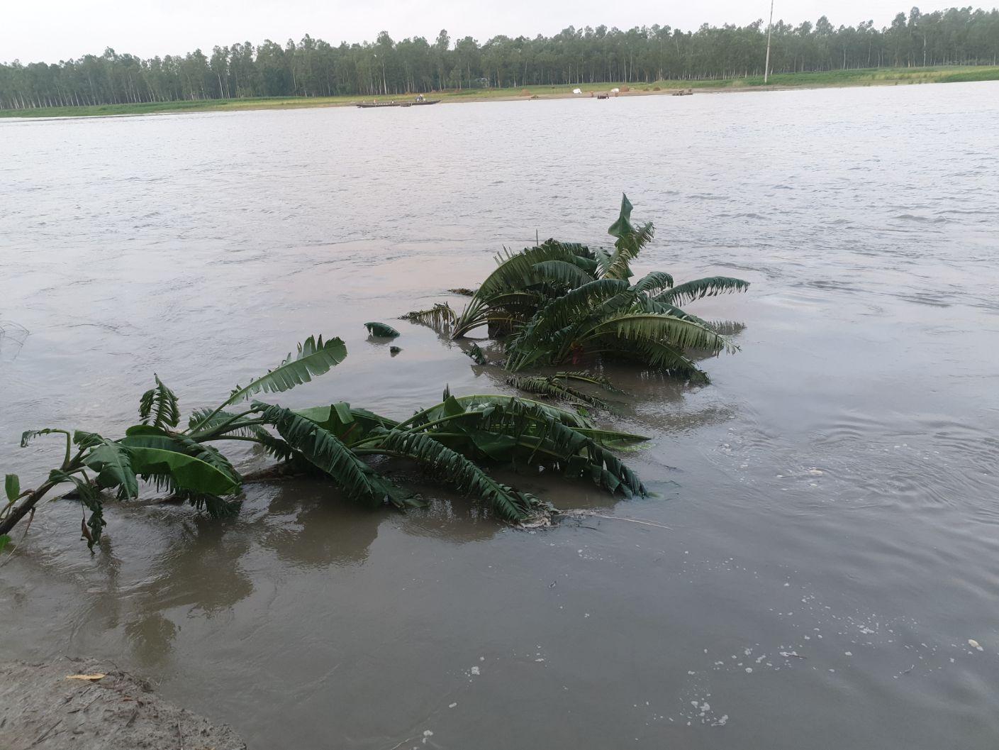 বর্ষা - নদী ভাঙ্গন