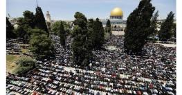 আল-আকসায় ঈদের নামাজে মুসল্লিদের ঢল